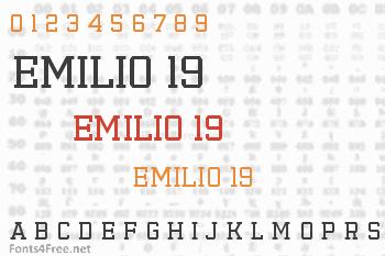 Emilio 19 Font