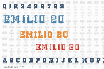 Emilio 20 Font