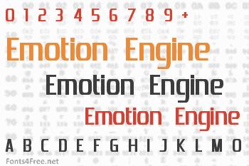 Emotion Engine Font