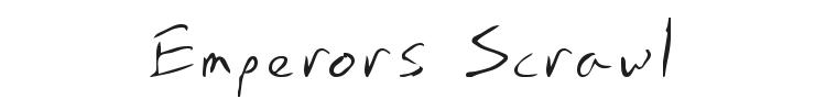 Emperors Scrawl Font Preview