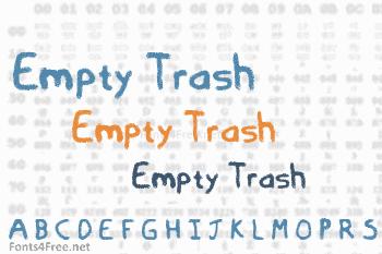 Empty Trash Font