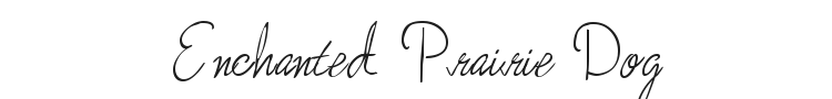 Enchanted Prairie Dog Font Preview
