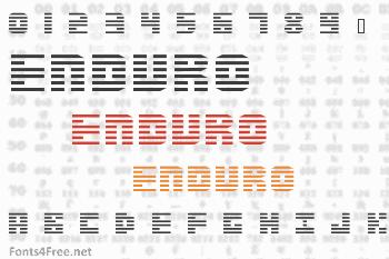 Enduro Font