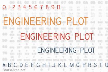 Engineering Plot Font