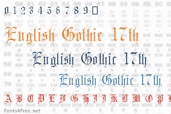English Gothic 17th Century Font