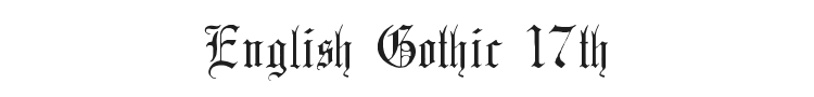 English Gothic 17th Century Font Preview