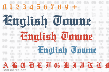 English Towne Font