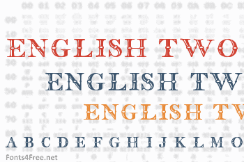 English Two Line Font