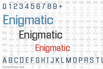 Enigmatic Font