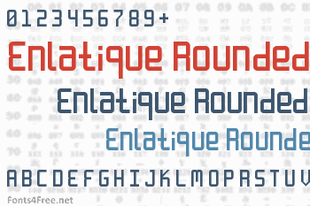 Enlatique Rounded Font