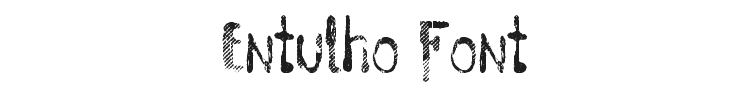 Entulho Font Preview