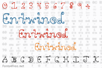 Entwined Font
