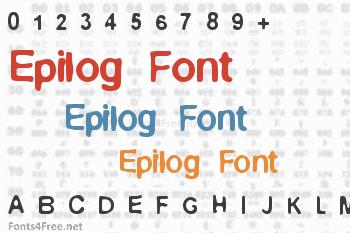 Epilog Font
