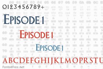 Episode 1 Font
