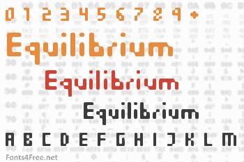 Equilibrium Font
