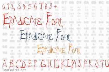 Eradicate Font