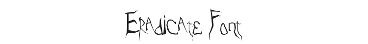 Eradicate Font Preview