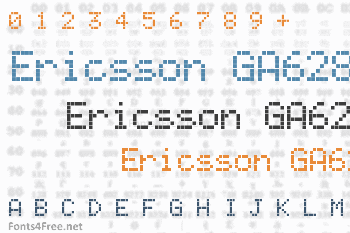 Ericsson GA628 Font