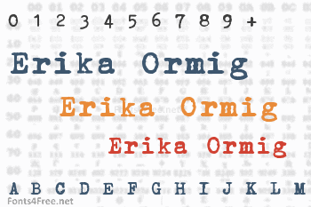 Erika Ormig Font