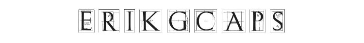 ErikGCaps Font Preview