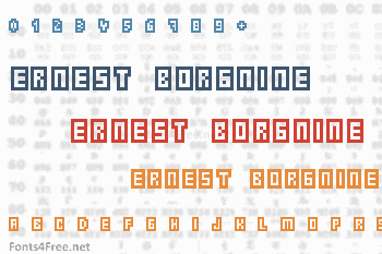 Ernest Borgnine Font