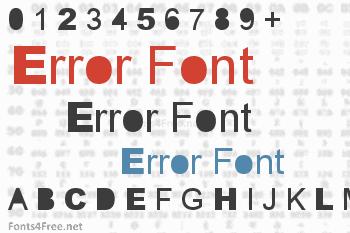Error Font