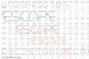 Escape Font