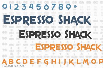 Espresso Shack Font