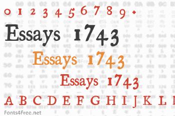 essays 1743 font