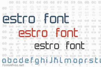 Estro1 Font