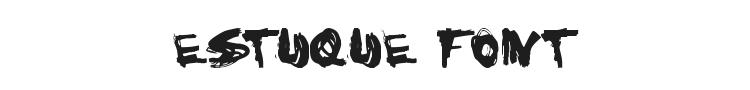 Estuque Font Preview