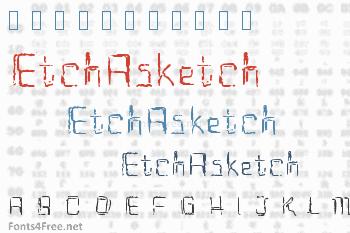 EtchAsketch Font