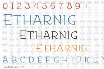 Etharnig Font