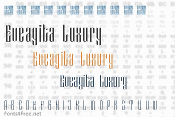 Eveagita Luxury Font