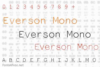 Everson Mono Latin Font