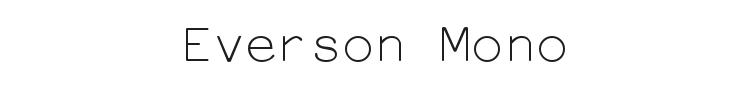 Everson Mono Latin