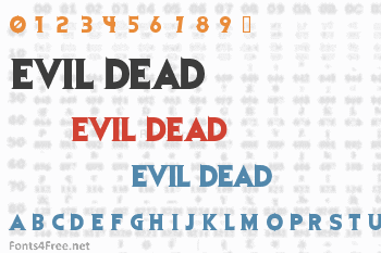 Evil Dead Font