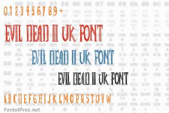 Evil Dead II UK Font