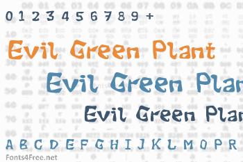 Evil Green Plant Font