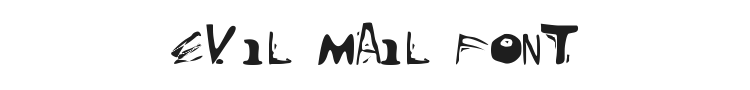 Evil Mail Font Preview