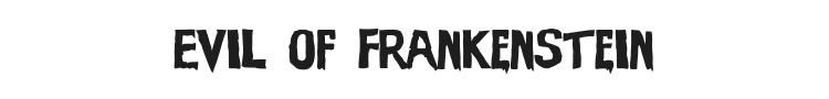 Evil of Frankenstein Font Preview