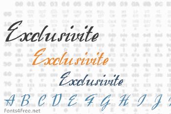 Exclusivite Font