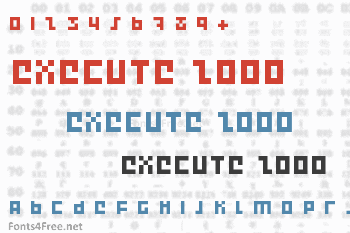 Execute 2000 Font