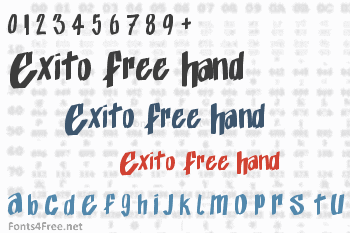 Exito Free Hand Font