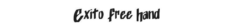 Exito Free Hand Font Preview