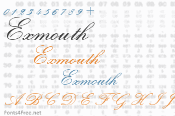 Exmouth Font