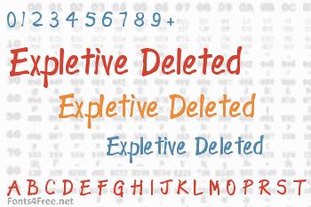 Expletive Deleted Font