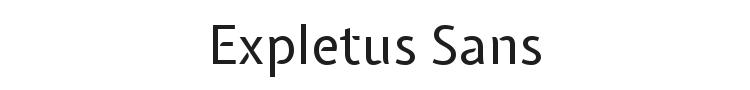 Expletus Sans Font Preview
