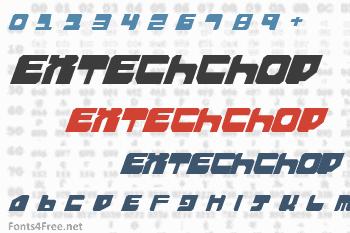 Extechchop Font