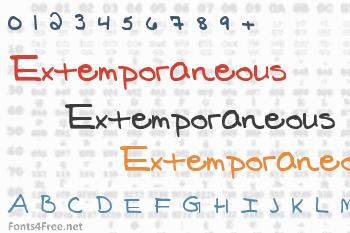 Extemporaneous Font